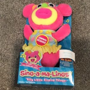 Sing-a-ma-Lings musical toy NWT Sunny